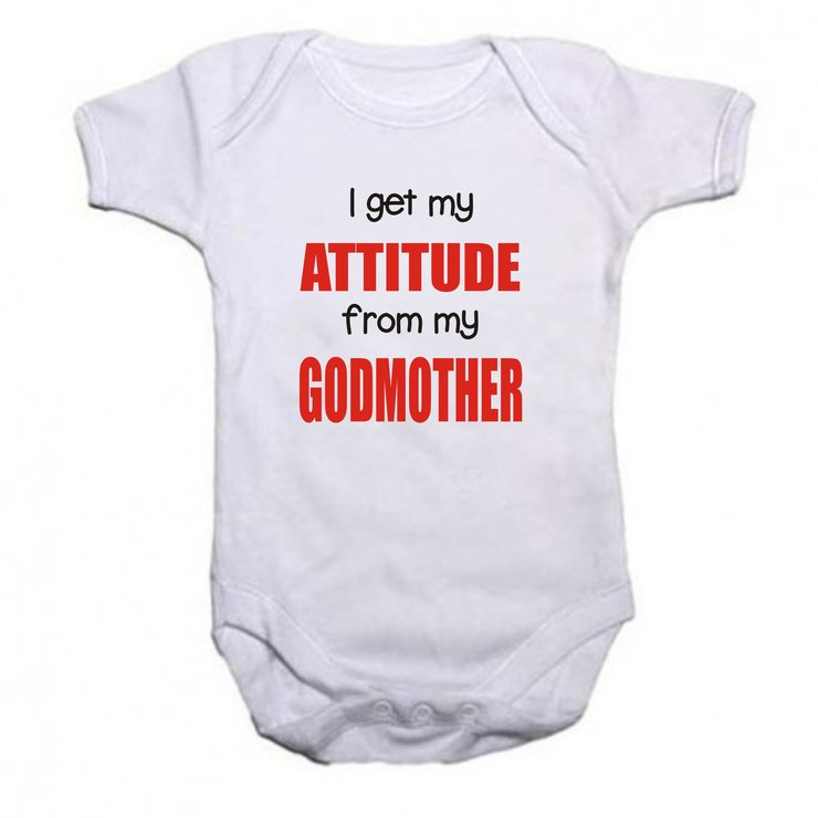 I get my attitude from my Godmother baby grow by Qtees Africa (Pty)Ltd