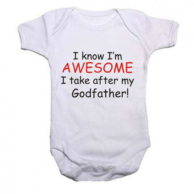 I know i'm Awesome, I take after my Godfather baby grow by Qtees Africa (Pty)Ltd