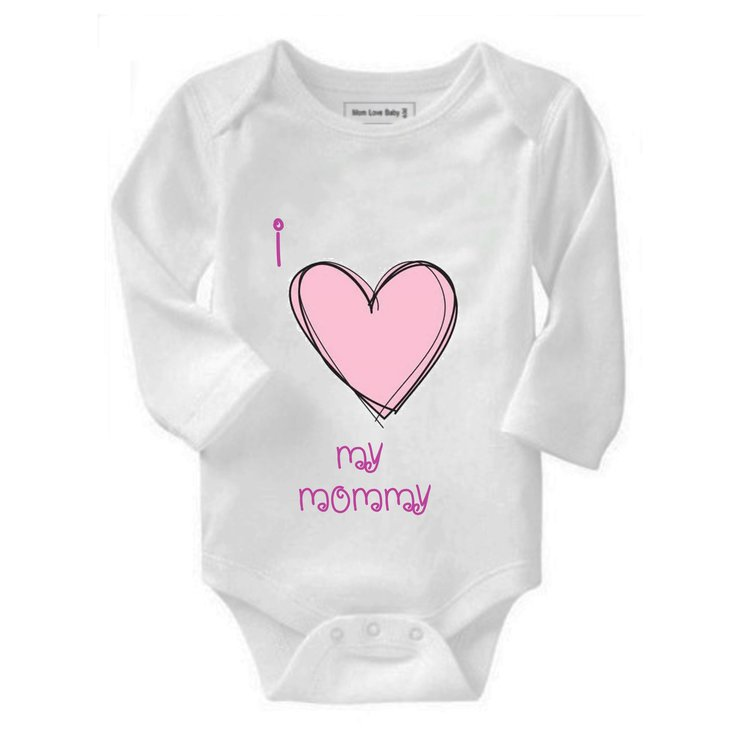 I love my Mommy baby grow by Qtees Africa (Pty)Ltd