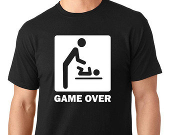 Game Over Dad To Be T Shirt New Dad Future Dad Novelty T Shirt