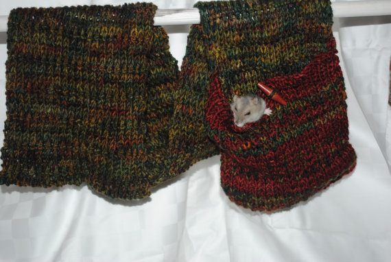 Walking Scarf Knitting Pattern Pocket Scarf Allows Plenty Space For