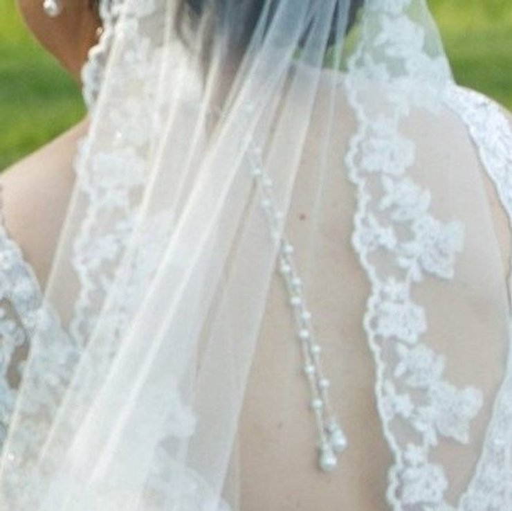 Bridal Pearl Backdrop Necklace Elegant Y Back Drop Bridal Jewellery  by SLDesignsHBJ