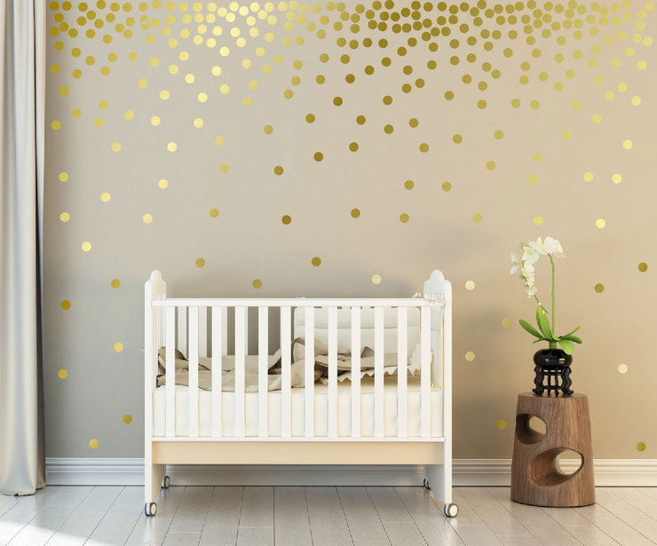 Gold Vinyl Dots by Metanoia Graphic Design