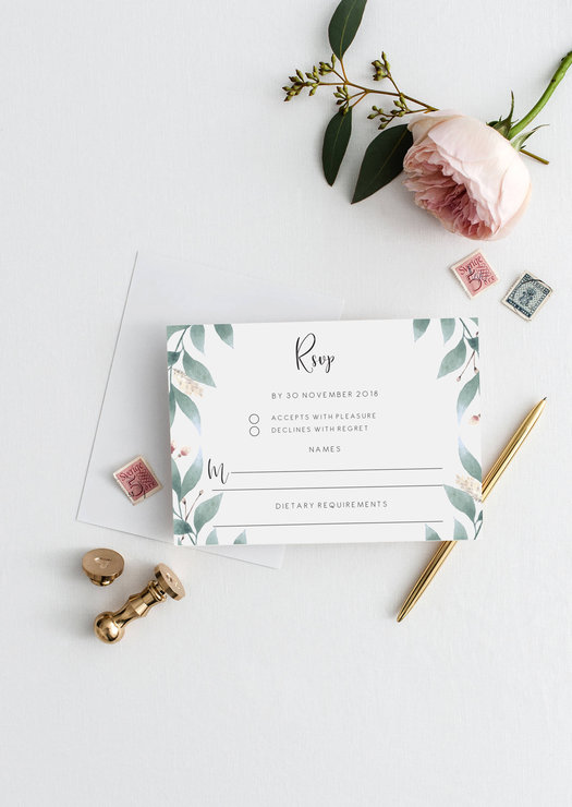photograph regarding Printable Rsvp Card identified as Editable RSVP card Stylish marriage template Wedding day Solution printable rsvp template eucalyptus PDF immediate down load botanical rsvp card Do it yourself