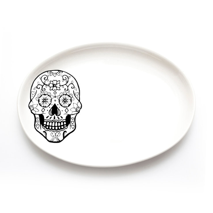 Sugar Skull Jewellery Plate by Sugar and Vice