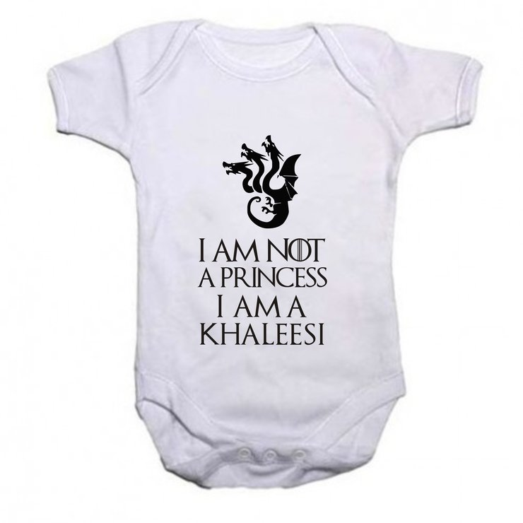 I'm not a Princess, I'm a Khaleesi baby grow by Qtees Africa (Pty)Ltd