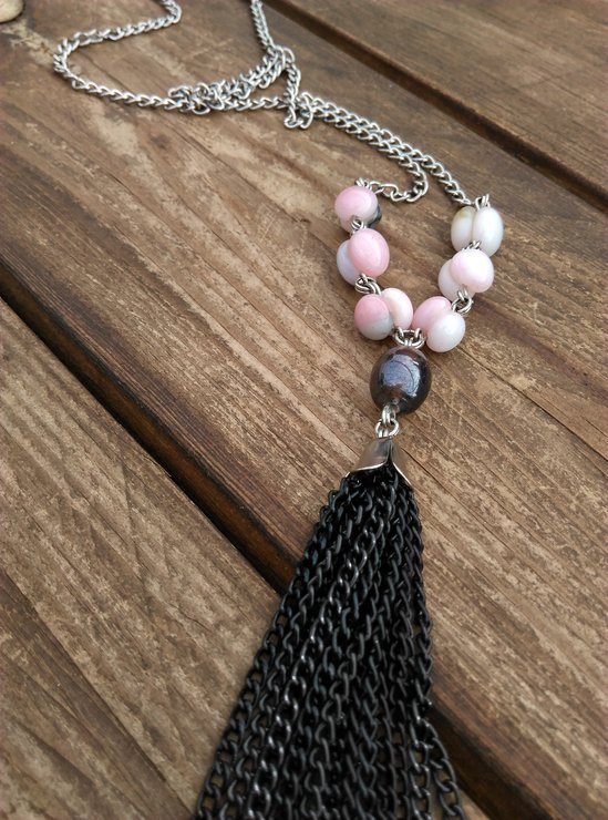 Chain tassle necklace by Wonder Struck Inc