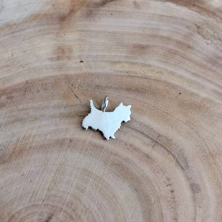 Handmade Sterling Silver - Mini Scotty Pendant by Jessica Jane Jewellery