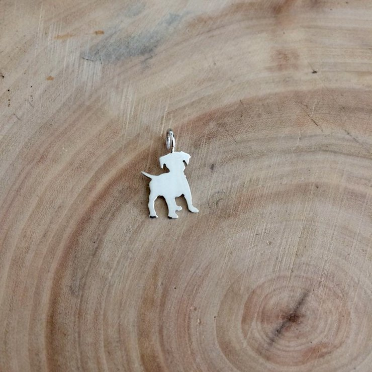 Handmade Sterling Silver - Mini Puppy Pendant by Jessica Jane Jewellery