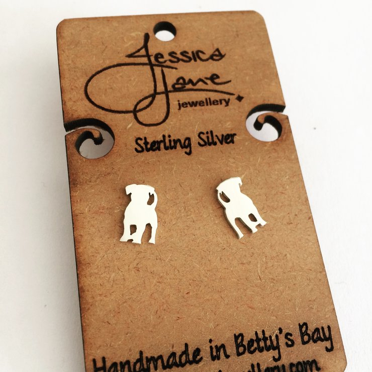 Handmade Sterling Silver - Puppy Love Studs by Jessica Jane Jewellery