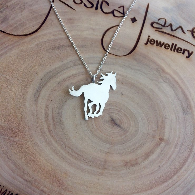 Handmade Sterling Silver - Horse Pendant by Jessica Jane Jewellery