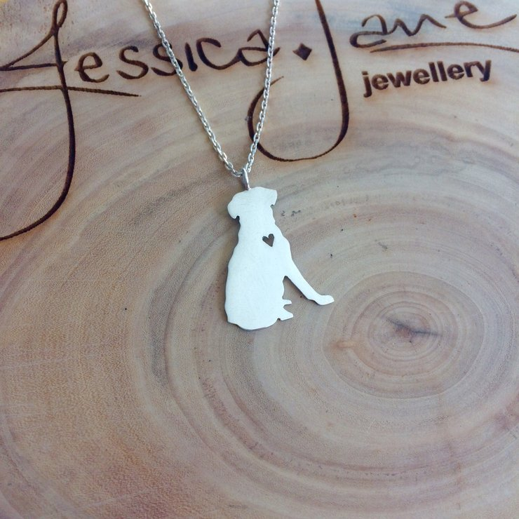 Handmade Sterling Silver - Rottweiler Pendant by Jessica Jane Jewellery