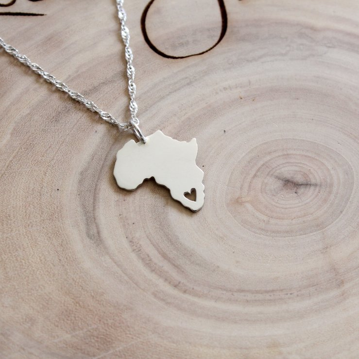 Handmade sterling silver africa heart pendant hello pretty buy handmade sterling silver africa heart pendant by jessica jane jewellery audiocablefo