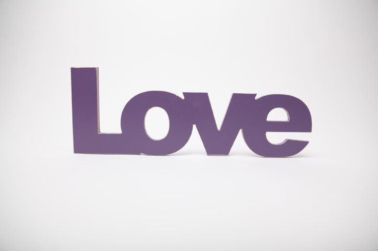 Words - wooden word love  by Bokke & Blomme