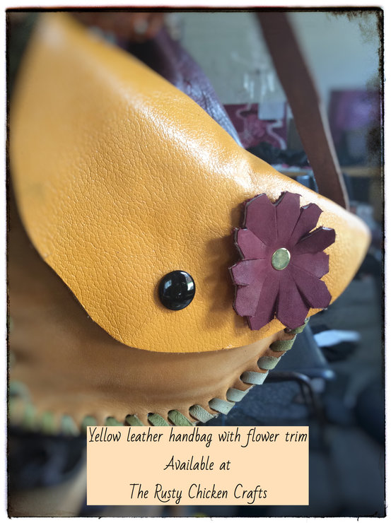 Hand made leather bags  by The Rusty Chicken Crafts