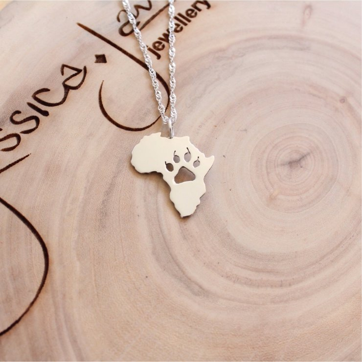 Handmade Sterling Silver Lion Paw Pendant by Jessica Jane Jewellery