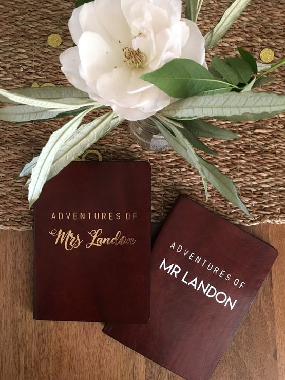 Mr & Mrs Passport Covers Set Of 2 by Love & Sparkles