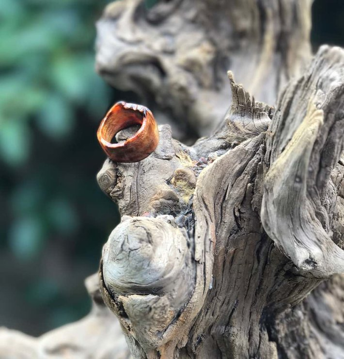 Live edge drift wood ring by SHADE + NATURE