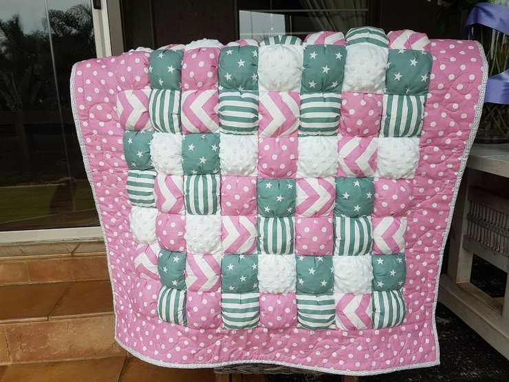 Baby Bubble Quilt Bubble Blanket Puffy Quilt Pink