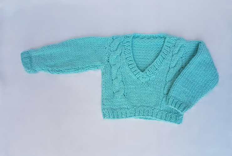 8e13ed0faff1 Knit Baby Cardigan - Hand Knitted - Baby Cardigan Blue - Knitted ...