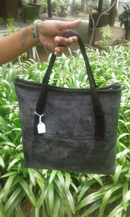 192e36bfe8 Recycled Rubber Tote Bag