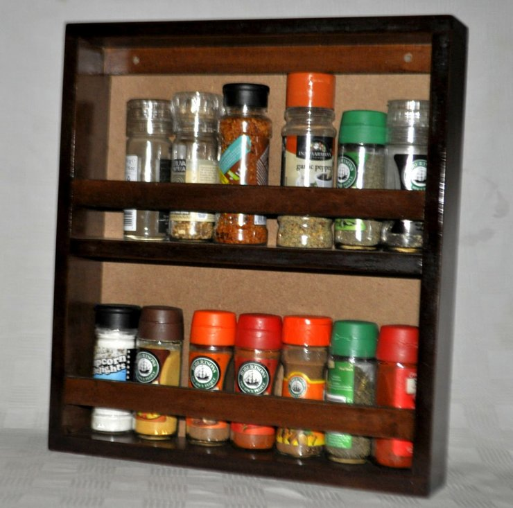 Wall mount spice rack by Bobs woodwork