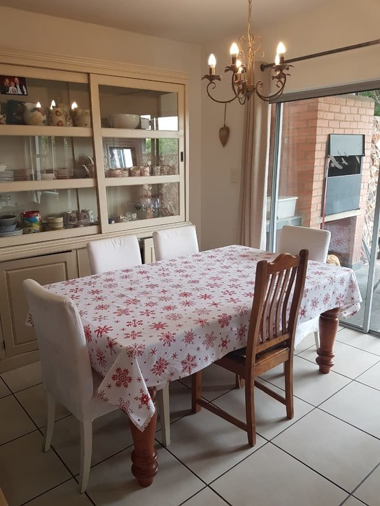 Christmas table cloth by Going Dutch In Sa