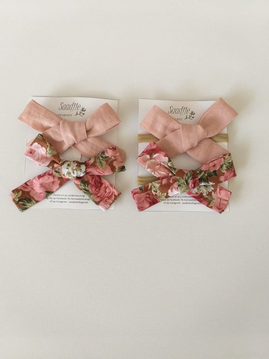 French Rose bow set by Saadjie