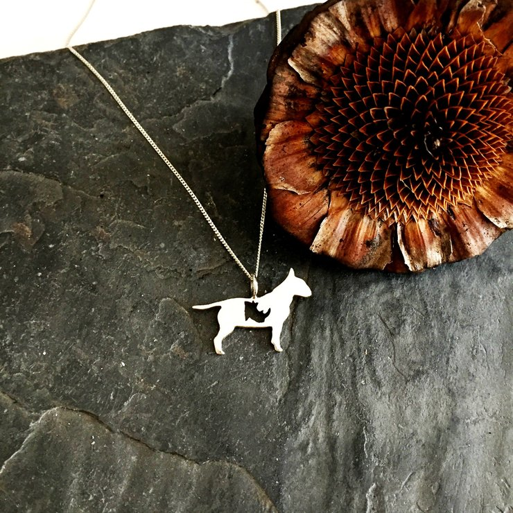 Handmade Sterling Silver Pepper on Patrol - Bully Rhino Cut Out Pendant  by Jessica Jane Jewellery
