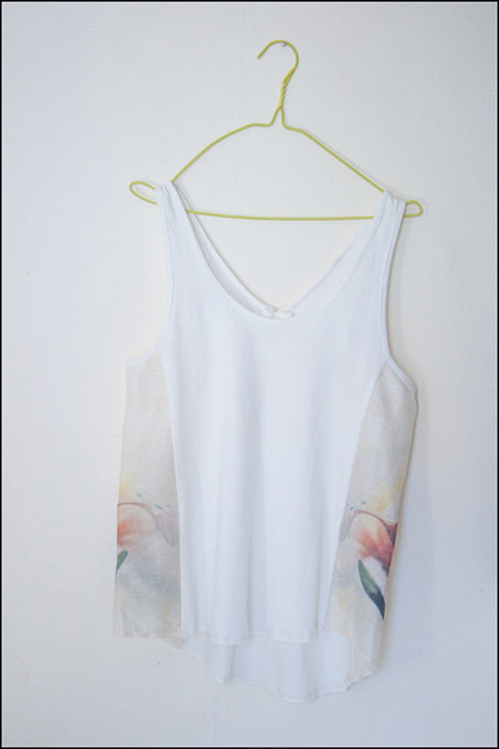 Fragapani PhotoGanic Vest - 100% Organic Cotton & Raw Silk  by PhotoGanic Organic Fabrics