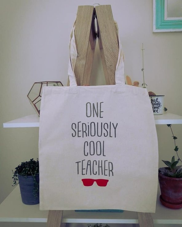 One Seriously Cool Teacher - Tote Bag by Betty Boo