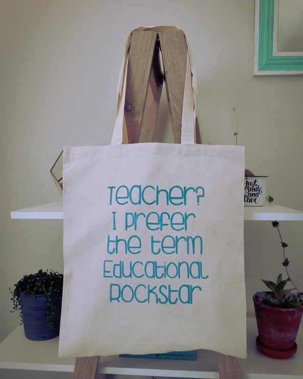 Tote Bag - Teacher Tote by Betty Boo