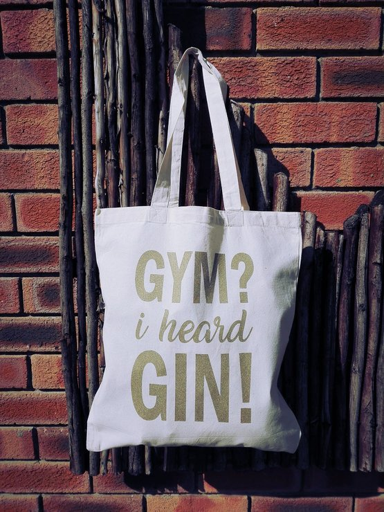 Gym or Gin Tote Bag by Betty Boo