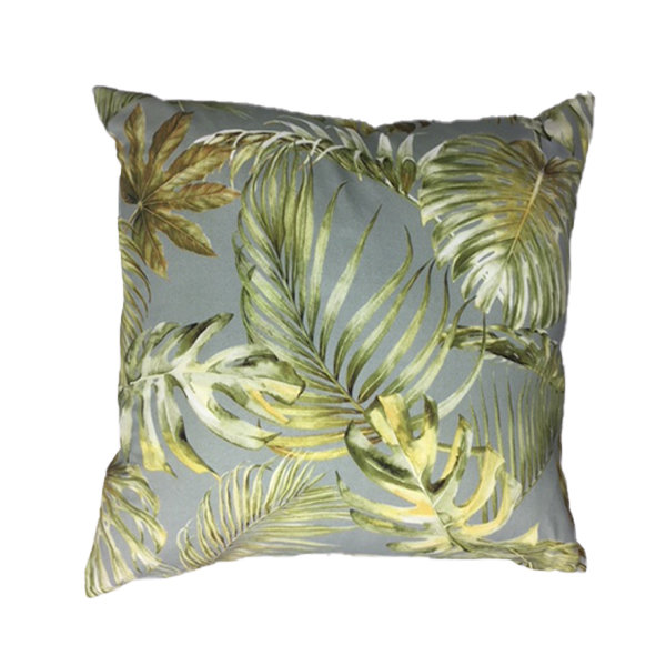 Jungle Grey Scatter Cushion 60cm x 60cm with Inner by Amore Home