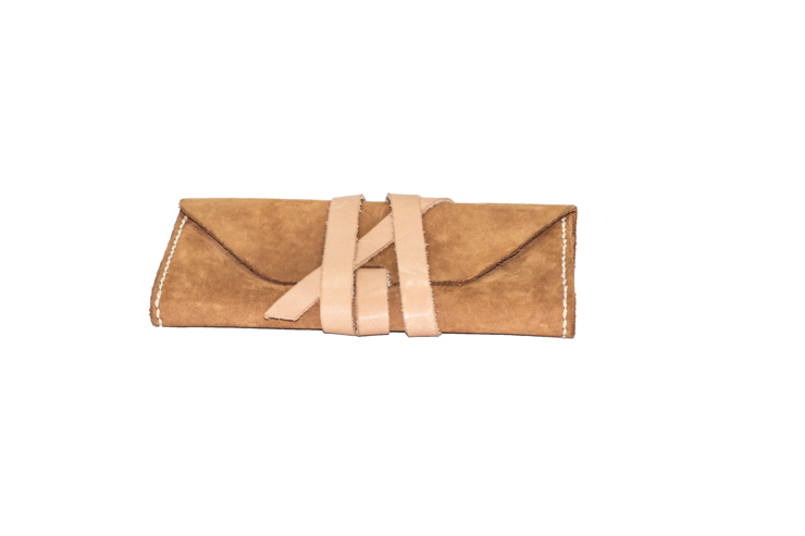 Nubuck Leather Clutch by Armeez