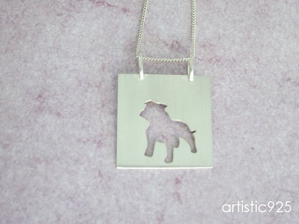 Love Staffordshire Bull Terriers by Artistic925Jewellery