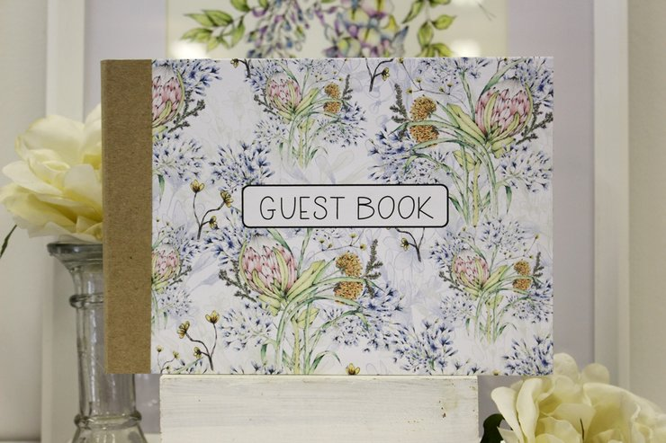 Guest Book-AGAPANTHUS IN FYNBOS-SOLD OUT by Timeless Memories
