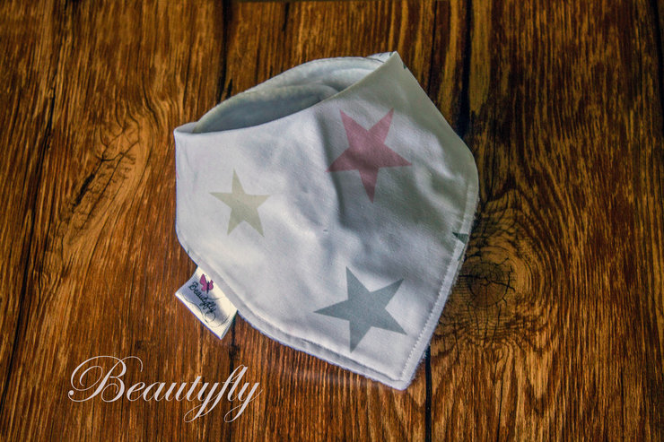 Baby Girl Star Bandana Bib by Beautyfly