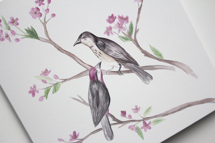 Birds of a Feather Greeting Card by Deerly Studio