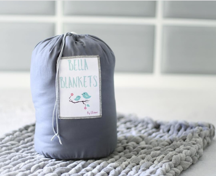 Giant Knit Baby Blanket Throw by Bella Blankets