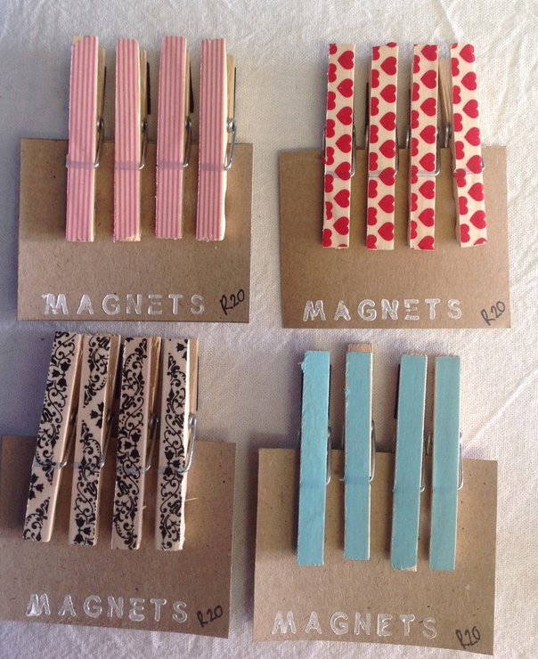 Magnet Pegs set of 4 by Shenanigans
