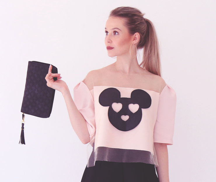 Pink Mickey Mesh Top (As seen in BLOSS Magazine) by Call A Cab & Take It Slow