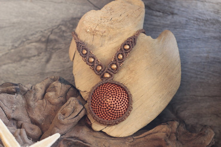 Macrame Protea Core Necklace by Shackletons