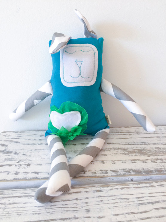 Scrappy Buddy Soft Toy - SB0013 by The Twisted Cloth