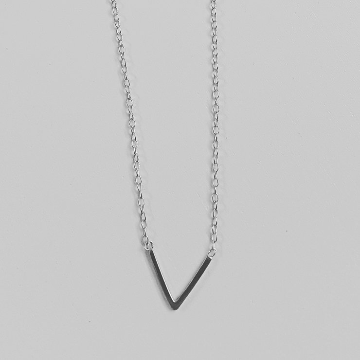 """V"" Necklace by VEERS."