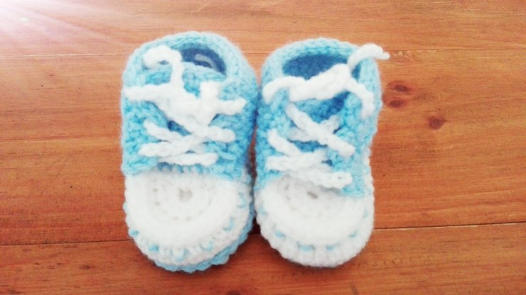 dcc7bedafc639 Crochet Baby boy booties