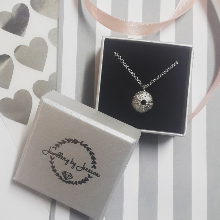 Silver Sea Urchin Necklace by Jewellery by Jessica