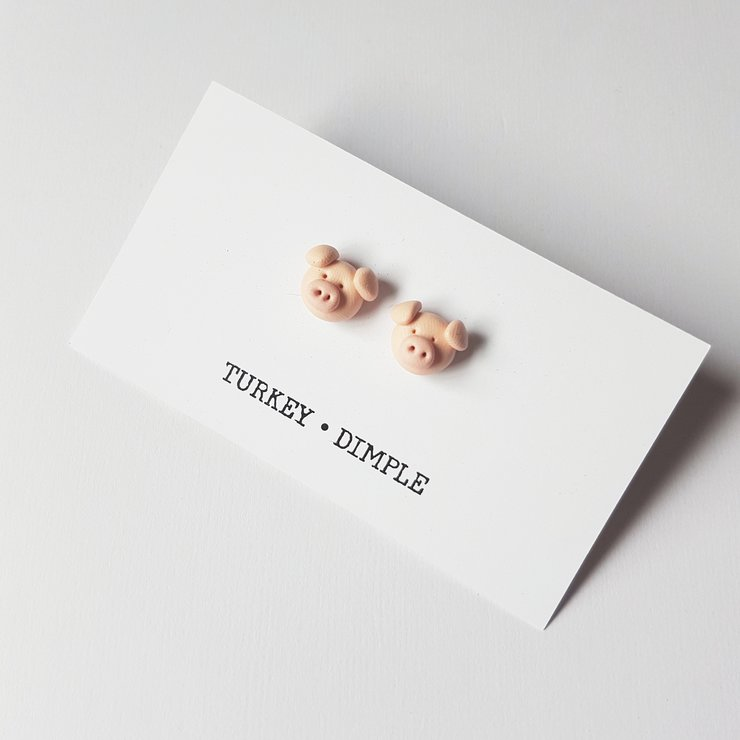 Piggy studs by turkey dimple