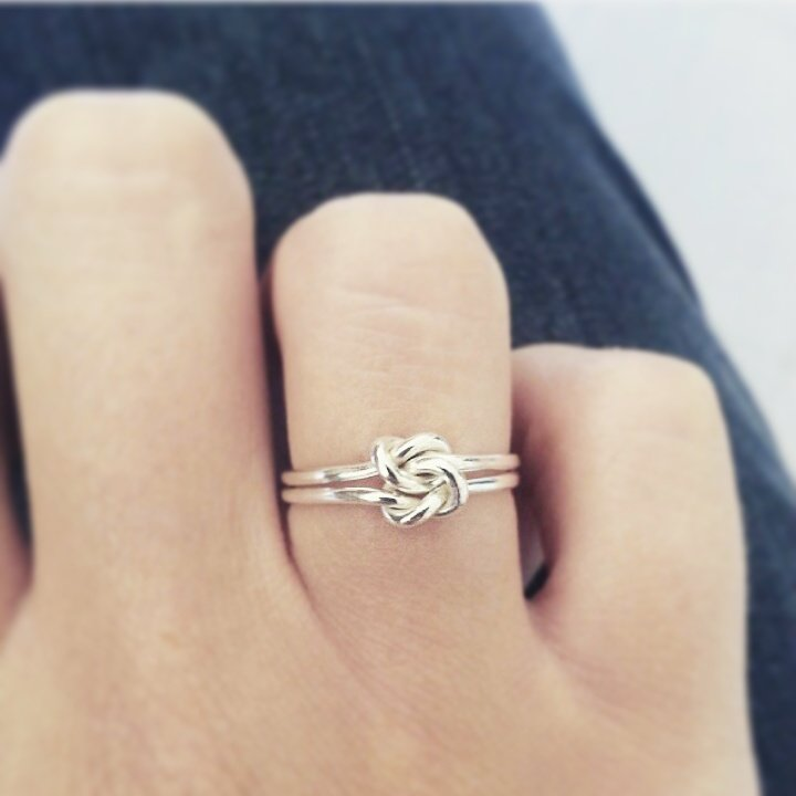 double knot ring by Antique Fusion Jewellery