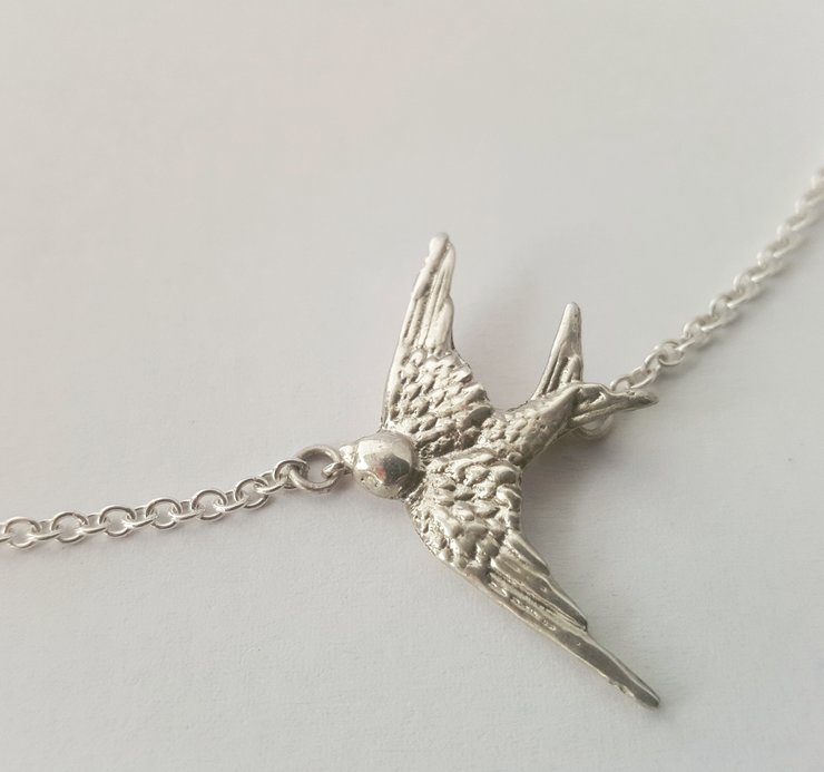 Swallow necklace  by RubyRose Jewellery